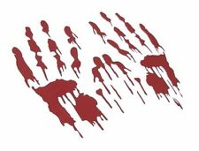 Bloody Hand Prints Decal LARGE PAIR RED Zombie Car Vinyl Sticker