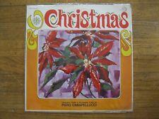 """PIERO CARAPELLUCCI~CHRISTMAS~SIGNED~1968~EP RECS~33RPM~12"""" VINYL~NM"""