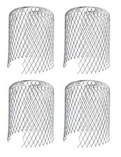 Pack of 4 Metal Gutter Guards Downpipe Guard Drain Cover