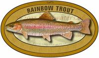 Rainbow Trout Sticker durable waterproof fish decal GUARANTEE 3 years no fade