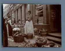 Germany, Koblenz, Open Market  Vintage citrate print. Vintage Germany.  Tirage