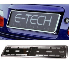 E-tech Stainless Steel Car Registration Number Plate Holder Surround Frame