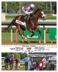 TIZ THE LAW TRAVERS STAKES COMPOSITE PHOTO 10 X 8