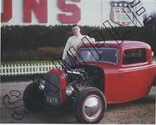 Hot Rod photo 8 x 10 1950's color 35mm Otie's Automotive Cam Jammers car club