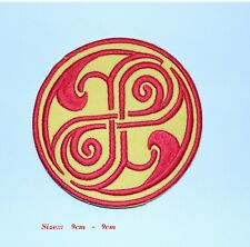 Doctor who seal Rassilon Retro  IRON / SEW ON PATCHES EMBROIDERED SCI FI BADGE