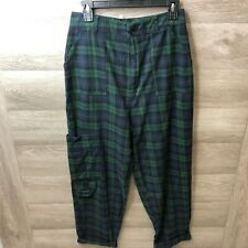 Asos Mens Size 8 Green Flannel Cargo Pants NEW