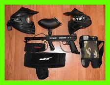 Paintball Gun Package Tippmann 98 Custom Paintball Mask Hopper + Accessories ✅