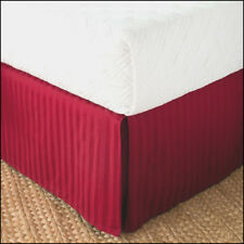 """Chaps DAMASK Bedskirt 15"""" Drop Bed Skirt - 500 tc 100% Pima Cotton RED - KING"""