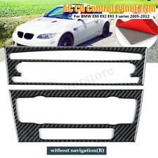 Car AC CD Stereo Fascia Radio Panel Sticker Carbon Fiber For BMW 3 E90 E92 E93