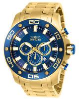 Invicta Men's Watch Pro Diver Scuba Quartz Chronograph Analog Blue Dial 26078
