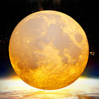 20cm Full Moon Lamp LED 3D Print USB Rechargeable Dimmable Luna Baby Night Light