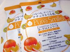 Japan Pure Smile yogurt series mix fruit 10pcs face mask skin care AUS stock