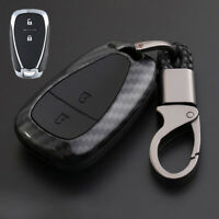 Carbon Fiber Design Shell+Silicone Cover Holder Fob Case For Holden Remote Key A