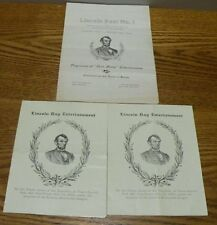August 1903 Grand Army of the Republic Program schedule Lincoln post No. 1