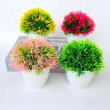 Árbol Artificial Plantas Bonsai Pequeño planta de tiesto Falso Flores En Maceta De Adorno