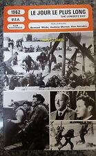 US War Movie The Longest Day John Wayne Robert Mitchum French Film Trade Card