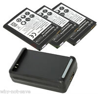 3 replacement battery and Wall Charger for Samsung Galaxy Note GT-N7000 SGH-I717
