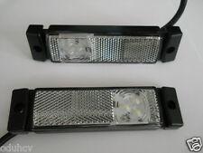 2 Seite LED Begrenzungsleuchten weiße Front- Lampen Reflex Lastwagen Bus