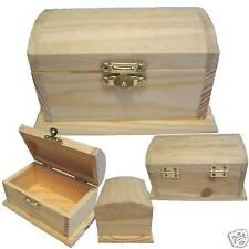 (3) NEW Wood Pirate Treasure Chest Storage/Coin/Money/Stash/Cash Trinket Toy Box