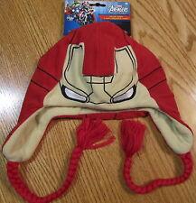 Iron Man 3 Child Laplander Winter Ski Hat Marvel Comics Brand New 0205