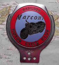 Genuine Old Vintage Renamel Car Mascot Badge : Marconi Motor Cycle Club