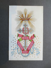 ANTIQUE Greetings Card Victorian 1880s Marion & Co No Cross No Crown Religious
