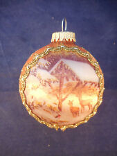 "KREBS OF ROSWELL GLASS AND SILK 3"" WINTER TRANQUILITY ORNAMENT"