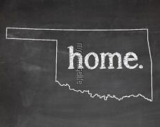 "OKLAHOMA HOME STATE PRIDE 2"" x 3"" Fridge MAGNET CHALKBOARD CHALK COUNTRY"
