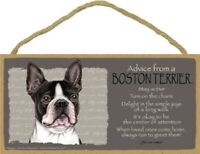 Advice from a Boston Terrier Inspirational Wood Your True Nature Dog Sign Plaque