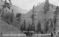 1910 Idaho Railroad Trestle Bridge Inland Rock Creek RPPC Photo Postcard 20-849