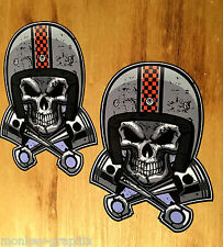 2x Speedfreak Oldschool Sticker Aufkleber USA Tuning Racer Dragster V8 Skull V2