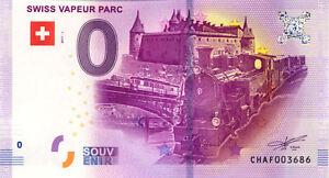 SUISSE Le Bouveret, Swiss Vapeur Parc, 2017, Billet Euro Souvenir