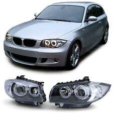 Angel Eyes Scheinwerfer Schwarz Paar für BMW 1er E81 E82 E87 E88 ab 09