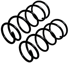 Pair Front Coil Spring For Renault Kangoo Express Fc0/1 Kc0/1 1.5 Dci 1997-2017