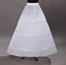 Neu A-Linie 3 Ringe Brautkleid Petticoat Reifrock Unterrock Party Weiß Krinoline