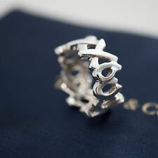 Tiffany & Co. Paloma Picasso Love Kisses Sterling Silver Ring Size 4.5 XOXO XO