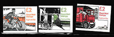 Gb - Stamp Booklets - 140 - £2 - Fw1/3 - Motorised Mail - 3 booklets