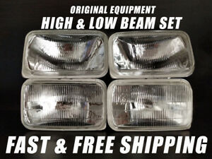 OE Fit Headlight Bulb For GMC V2500 Suburban 1989-1991 Low & High Beam Set of 4