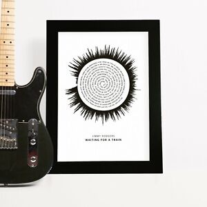Song Lyrics Soundwave Print Personalised Wedding Anniversary Gift for Men