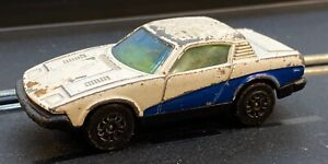 CORGI JUNIORS 1/64 SCALE DIE-CAST WHITE & BLUE  TRIUMPH TR7 SPORTS CAR