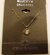 Authentic Lucky Brand Sterling Silver With Gold Overlay Hamsas/Evil Eye Necklace