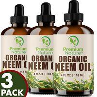 Organic Neem Oil For Skin Pure Cold Pressed Neem Oil 12 OZ