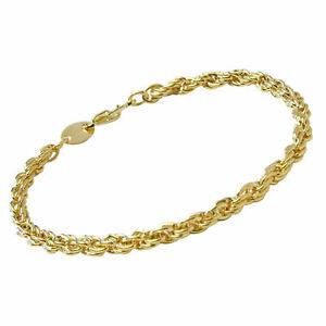 Brand New Womens Gold Plated Rope Chain Design Bracelet 19cm