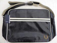 New BNWT Fred Perry Black Messenger Shoulder Bag Satchel - £39.95 & Free Post