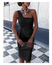 Damen Party One-shoulder Cocktail Etuikleid Kleid Bodycon Abendkleider Hochzeit