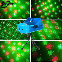 Mini R&G Laser Lighting Projector 6in1 DJ Club Disco Stage Party Show Light