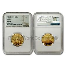 China 1983 Panda 50 Yuan 1/2 oz Gold Coin NGC MS69 SKU# 1403