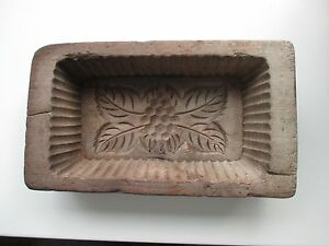 Butter press European folk art early 19th century hand carved
