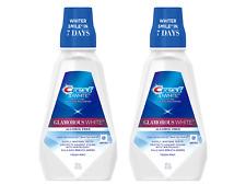 (2) Bottles Crest 3D White Multi-Care Whitening Rinse, Glamorous White, Fresh Mi