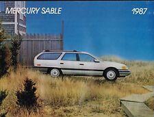 1987 Mercury >CANADA< SABLE {French} Brochure / Catalog  : GS,LS,Station Wagon